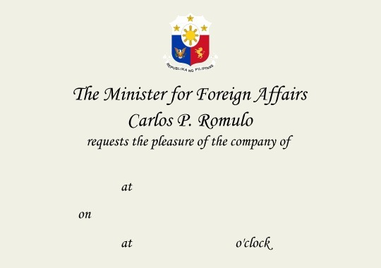 Foreign service correspondence forms sample invitation stopboris Images