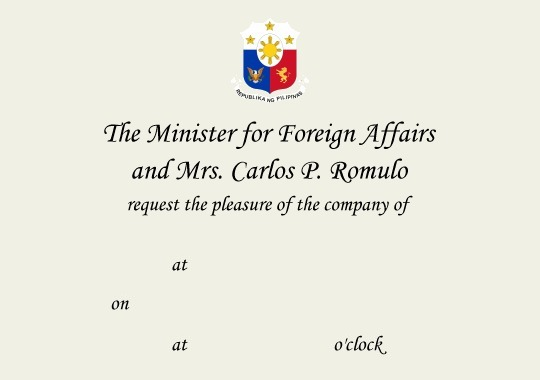 Foreign service correspondence forms sample invitation stopboris Gallery